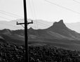 Telephone Pole and Mountains